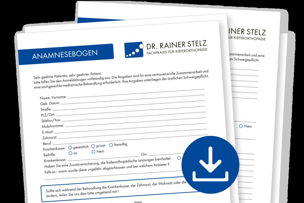 KFO Stelz | Post - Anamnesebogen Download