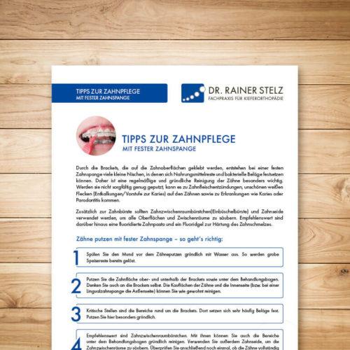 KFO Stelz | Dokument-Download Tipps zur Zahnpflege mit fester Zahnspange