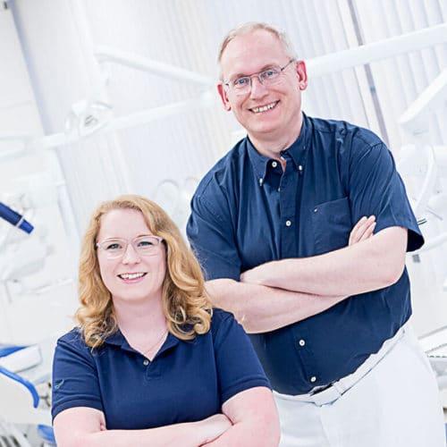 KFO Stelz | Das Ärzteteam - Dr. Ina Reinken und Dr. Rainer Stelz